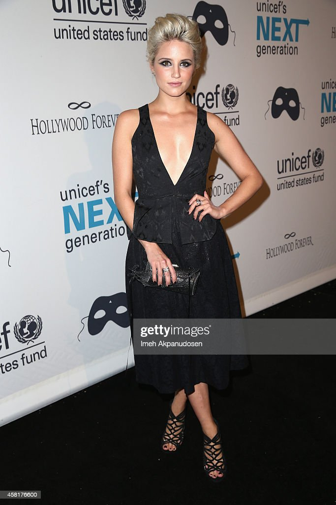 Actress Dianna Agron at The UNICEF Dia de los Muertos Black White Masquerade Ball at Hollywood Forever Cemetery benefitting UNICEF's education...