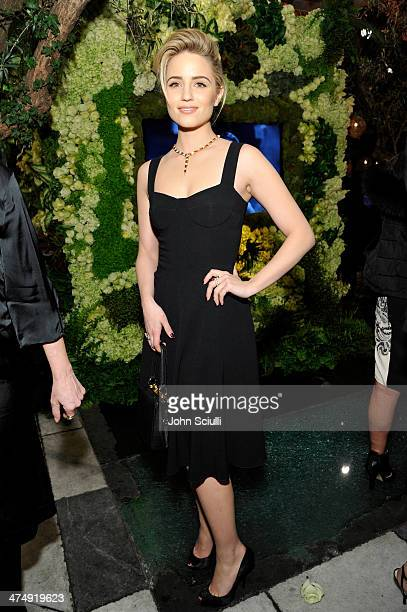 Actress Dianna Agron attends 'Decades of Glamour' presented by BVLGARI on February 25 2014 in West Hollywood California