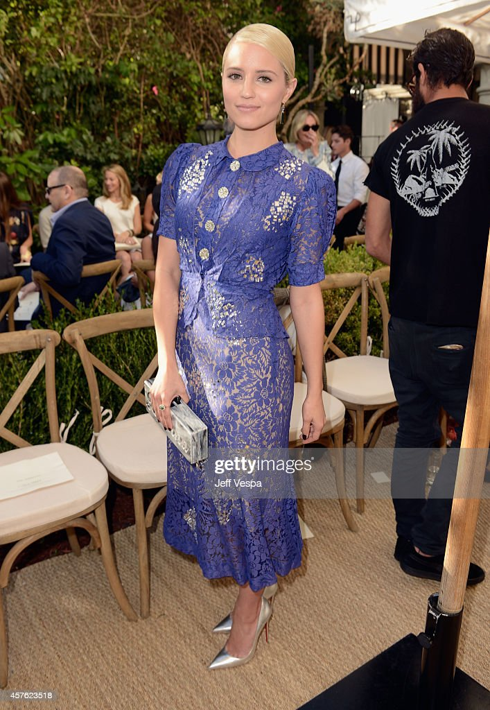 Actress Dianna Agron attends the 2014 CFDA/Vogue Fashion Fund Event presented by thecorner.com and supported by Aveda, Lexus, and Maybelline New York at Chateau Marmont on October 21, 2014 in Los Angeles, California.
