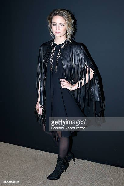 Actress Dianna Agron attends the Elie Saab show as part of the Paris Fashion Week Womenswear Fall/Winter 2016/2017 on March 5 2016 in Paris France