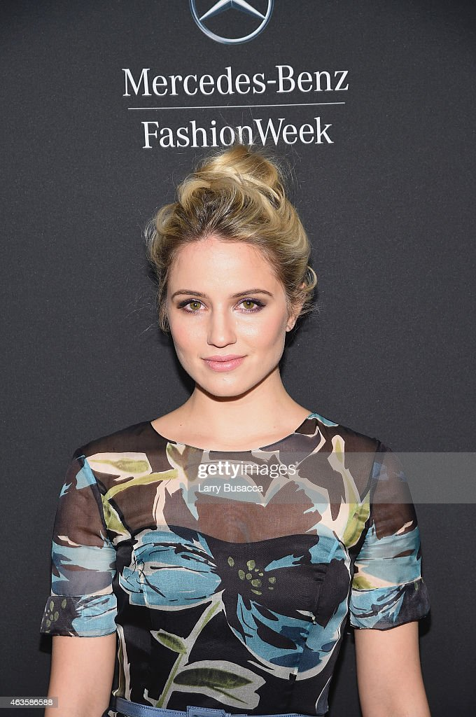 Actress Dianna Agron attends the MercedesBenz Fashion Week Fall 2015 at Lincoln Center for the Performing Arts on February 16 2015 in New York City