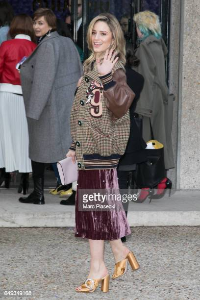 Actress Dianna Agron attends the Miu Miu show as part of the Paris Fashion Week Womenswear Fall/Winter 2017/2018 on March 7 2017 in Paris France