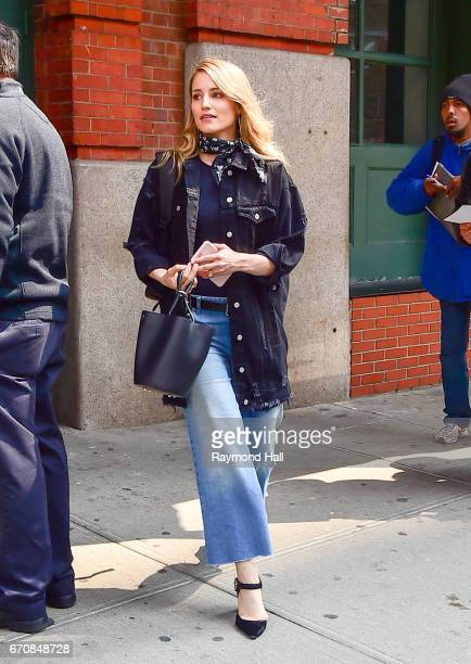 Actress Dianna Agron is seen walking in Soho on April 20 2017 in New York City