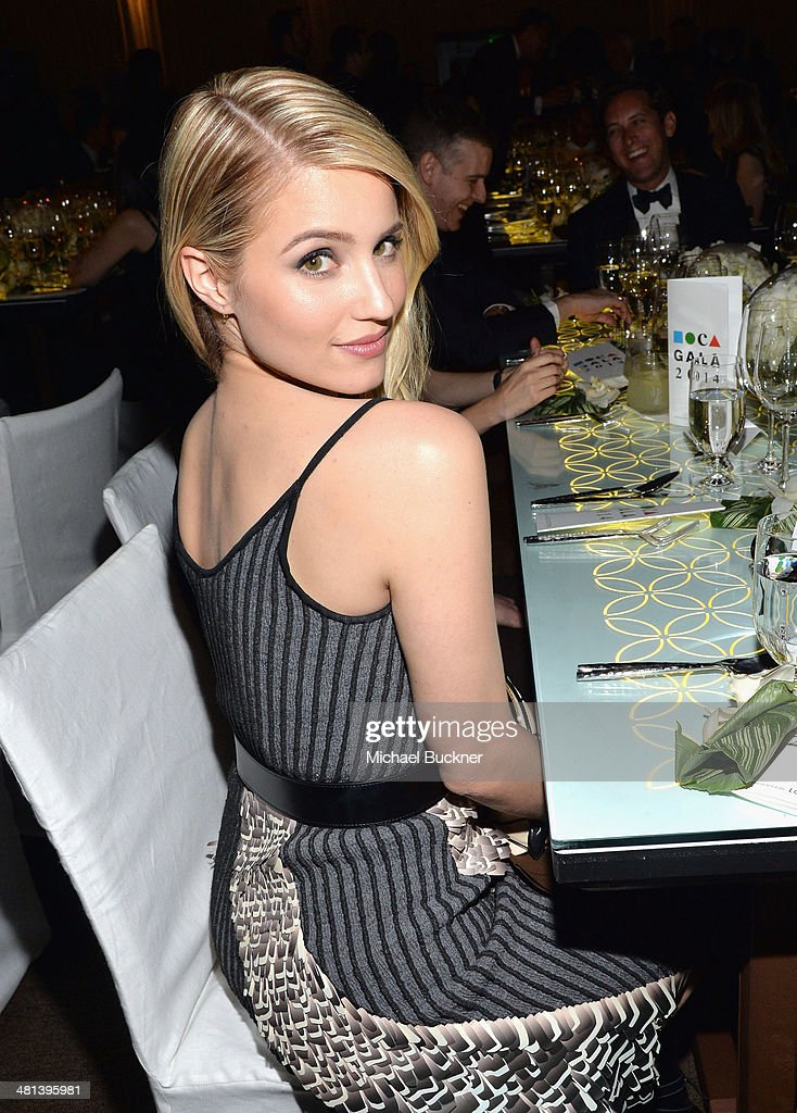 Actress <a gi-track='captionPersonalityLinkClicked' href=/galleries/search?phrase=Dianna+Agron&family=editorial&specificpeople=4439685 ng-click='$event.stopPropagation()'>Dianna Agron</a>, wearing Louis Vuitton, attends MOCA's 35th Anniversary Gala presented by Louis Vuitton at The Geffen Contemporary at MOCA on March 29, 2014 in Los Angeles, California.