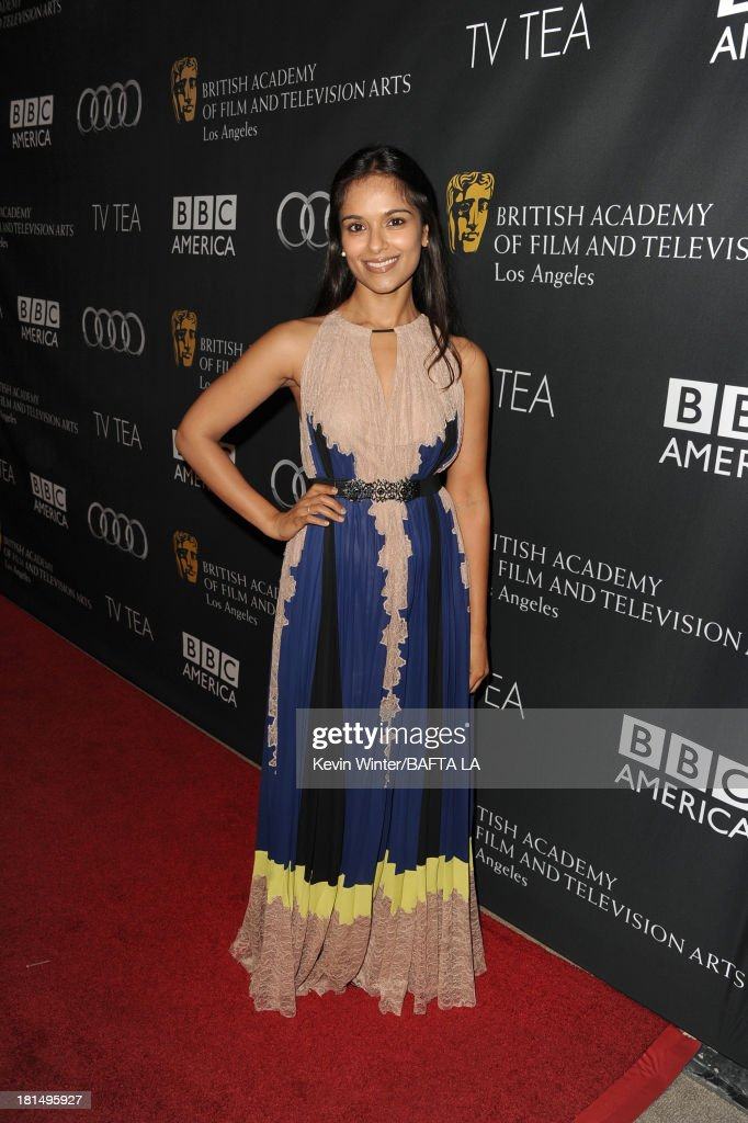 Actress <a gi-track='captionPersonalityLinkClicked' href=/galleries/search?phrase=Dilshad+Vadsaria&family=editorial&specificpeople=4432348 ng-click='$event.stopPropagation()'>Dilshad Vadsaria</a> attends the BAFTA LA TV Tea 2013 presented by BBC America and Audi held at the SLS Hotel on September 21, 2013 in Beverly Hills, California.