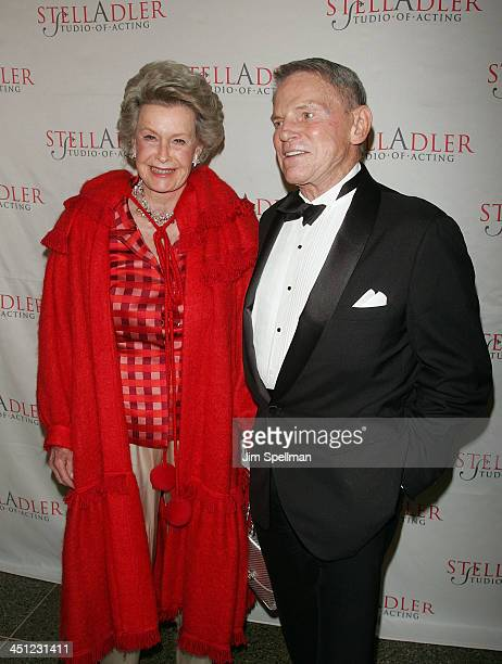 Actress Dina Merrill and CEO of RKO Pictures Ted Hartley arrives at the 4th Annual Stella by Starlight Gala Benefit Honoring Martin Sheen at...