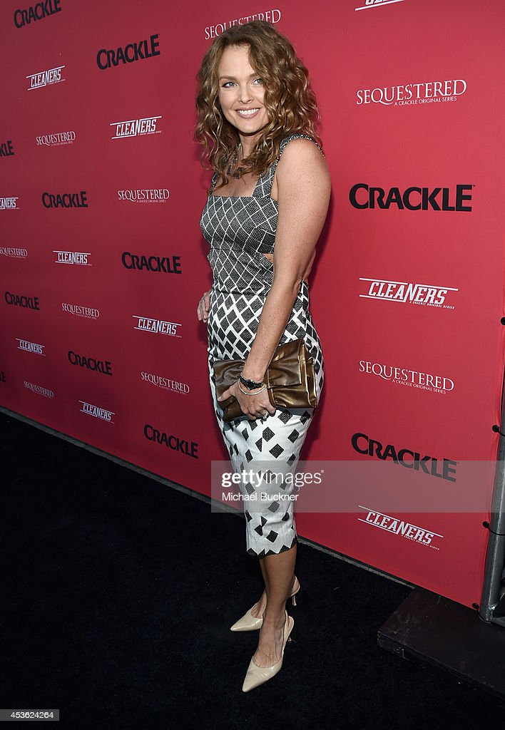 Actress <a gi-track='captionPersonalityLinkClicked' href=/galleries/search?phrase=Dina+Meyer&family=editorial&specificpeople=1550491 ng-click='$event.stopPropagation()'>Dina Meyer</a> attends Crackle Presents: Summer Premieres Event for originals, 'Sequestered' and 'Cleaners' at 1 OAK on August 14, 2014 in West Hollywood, California.