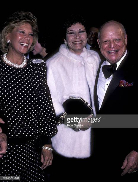 Actress Dinah Shore comic Don Rickles and wife Barbara Sklar attend the premiere of 'Crimes Of The Heart' on December 3 1986 at the Plitt Theater in...