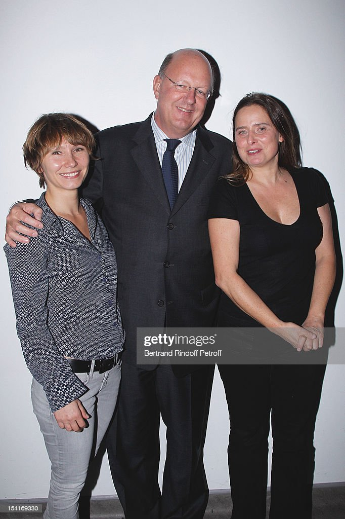 Actress <a gi-track='captionPersonalityLinkClicked' href=/galleries/search?phrase=Dinara+Droukarova&family=editorial&specificpeople=621503 ng-click='$event.stopPropagation()'>Dinara Droukarova</a>, Remy Pfimlin, President of France Televisions, and actress Carole Franck attend 'Amour' Premiere at la cinematheque on October 15, 2012 in Paris, France.