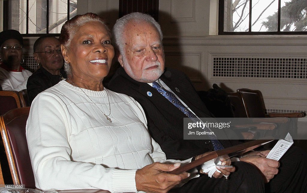 Actress Dionne Warwick and Mayor of the City of East Orange NJ Robert L. Bowser attend the 150th Anniversary of East Orange, New Jersey at Council Chambers on March 6, 2013 in East Orange, New Jersey.