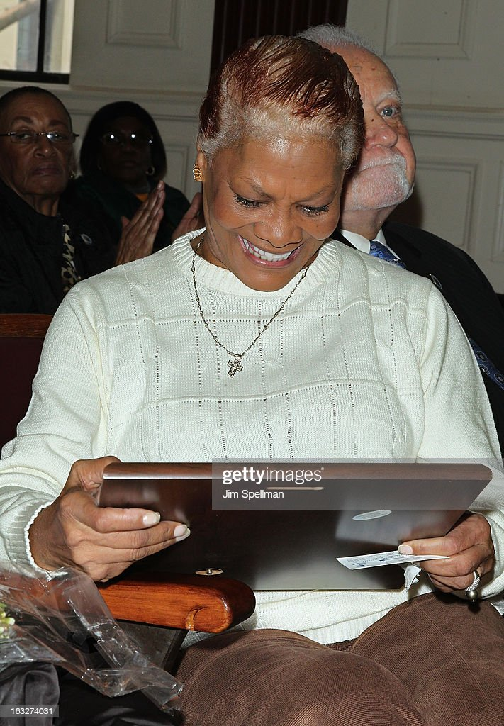 Actress <a gi-track='captionPersonalityLinkClicked' href=/galleries/search?phrase=Dionne+Warwick&family=editorial&specificpeople=213111 ng-click='$event.stopPropagation()'>Dionne Warwick</a> attends the 150th Anniversary of East Orange, New Jersey at Council Chambers on March 6, 2013 in East Orange, New Jersey.