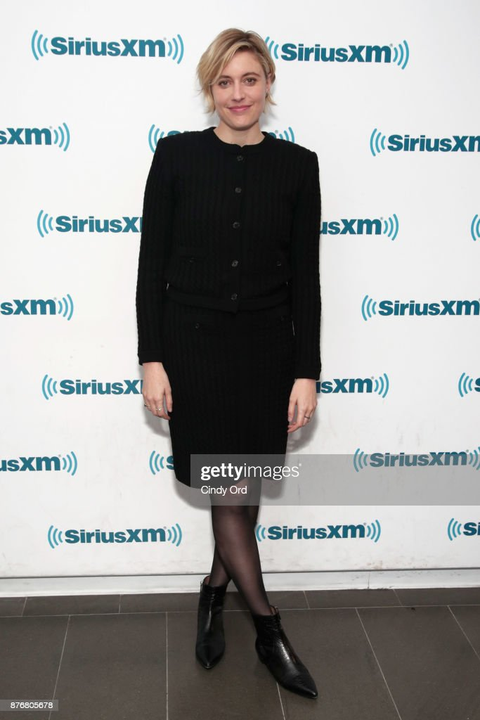 Actress/ director Greta Gerwig visits the SiriusXM Studios on November 20, 2017 in New York City.