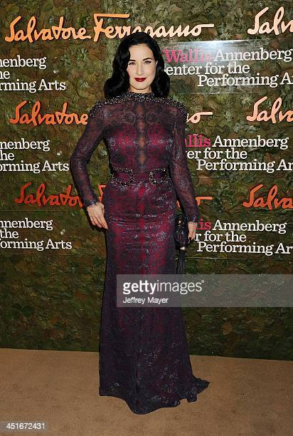 Actress Dita Von Teese arrives at the Wallis Annenberg Center For The Performing Arts Inaugural Gala at Wallis Annenberg Center for the Performing...