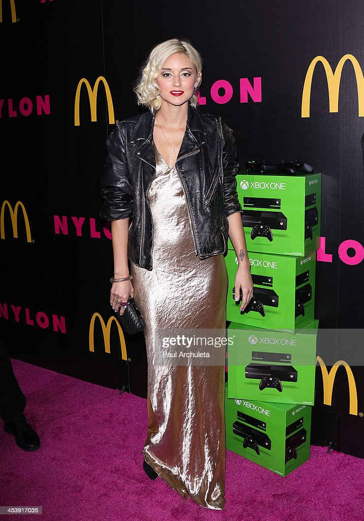 Actress / DJ <a gi-track='captionPersonalityLinkClicked' href=/galleries/search?phrase=Caroline+D%27Amore&family=editorial&specificpeople=210529 ng-click='$event.stopPropagation()'>Caroline D'Amore</a> attends NYLON Magazine's December issue celebration at Smashbox West Hollywood on December 5, 2013 in West Hollywood, California.