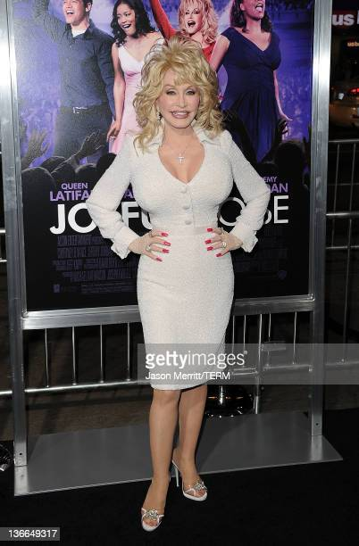 Actress Dolly Parton arrives at the premiere of Warner Bros Pictures' 'Joyful Noise' held at Grauman's Chinese Theatre on January 9 2012 in Hollywood...
