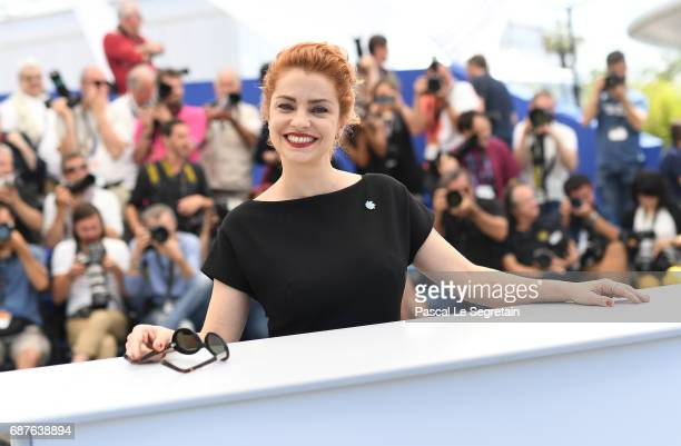 Actress Dolores Fonzi attends the 'La Cordillera El Presidente' photocall during the 70th annual Cannes Film Festival at Palais des Festivals on May...