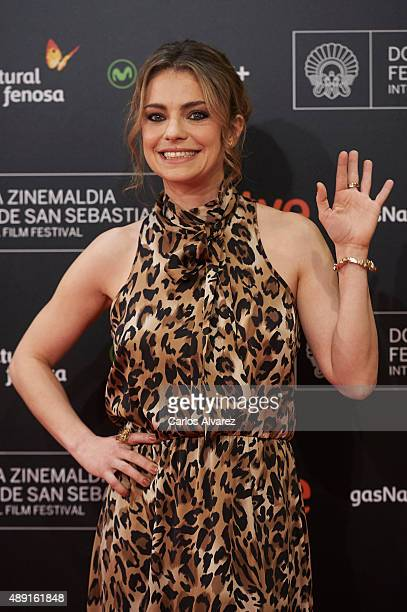 Actress Dolores Fonzi attends 'Truman' premiere during 63rd San Sebastian Film Festival at the Kursaal Palace on September 19 2015 in San Sebastian...