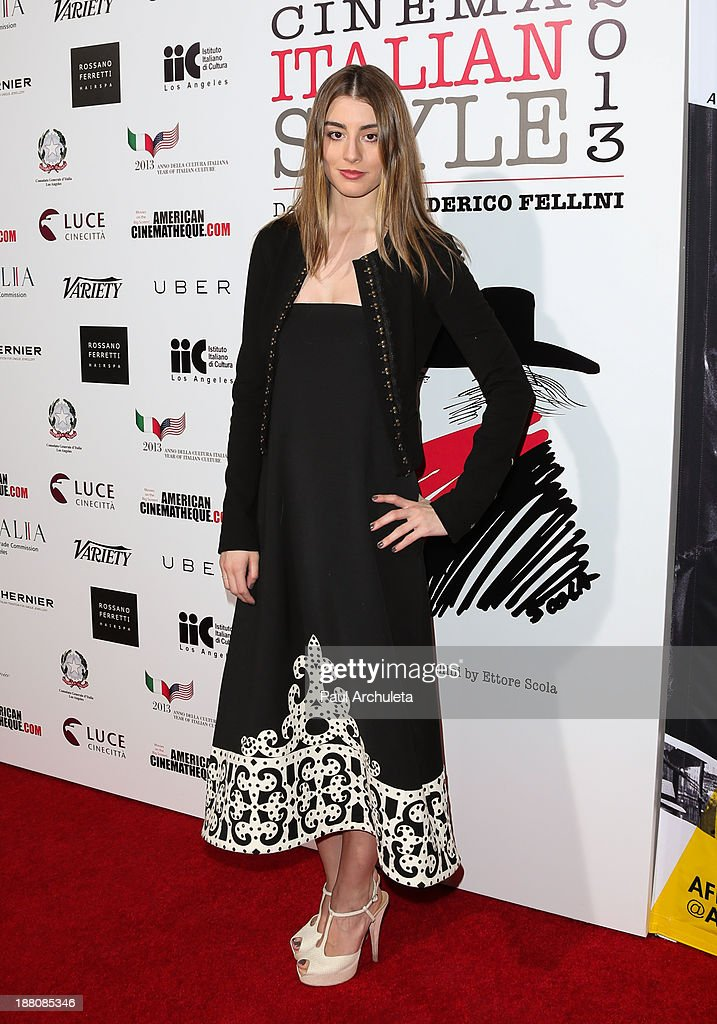 Actress Dominik Garcia- Lorido attends the premiere of 'The Great Beauty' at the Cinema Italian Style 2013 Opening Night at the Egyptian Theatre on November 14, 2013 in Hollywood, California.