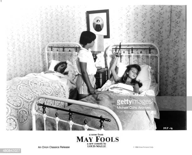 Actress Dominique Blanc actress Jeanne Herry and Rozenne Le Tallec in a scene from the movie ' May Fools ' circa 1990