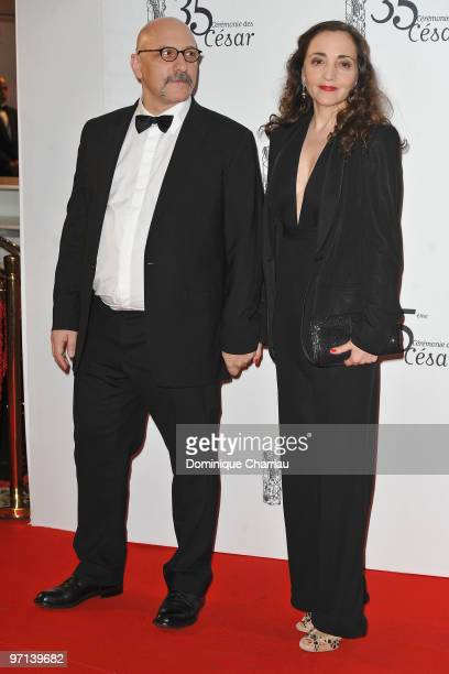 Actress Dominique Blanc and guest attend the 35th Cesar Film Awards at Theatre du Chatelet on February 27 2010 in Paris France