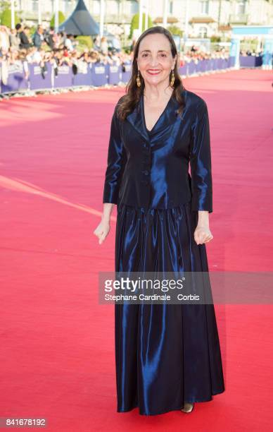 Actress Dominique Blanc arrives at the Opening Ceremony of the 43rd Deauville American Film Festival on September 1 2017 in Deauville France