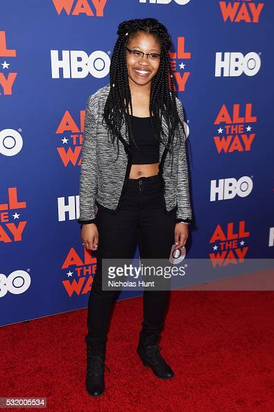 Actress Dominique Fishback attends the NYC special screening of HBO Films' 'All The Way' at Jazz at Lincoln Center on May 17 2016 in New York City