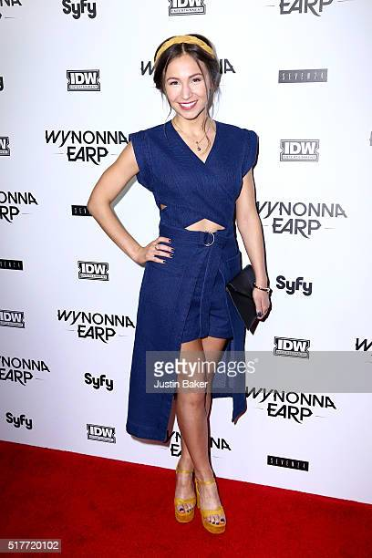 Actress Dominique ProvostChalkley attends the premiere of Syfy's 'Wynonna Earp' at WonderCon 2016 at Regal LA Live Stadium 14 on March 26 2016 in Los...