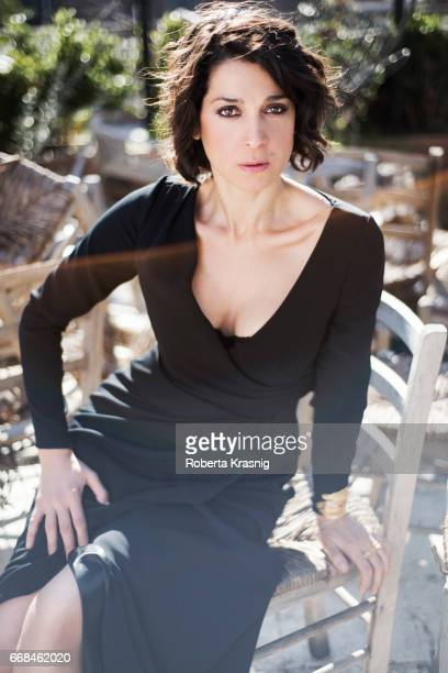 Actress Donatella Finocchiaro is photographed for Self Assignment on March 02 2017 in Rome Italy