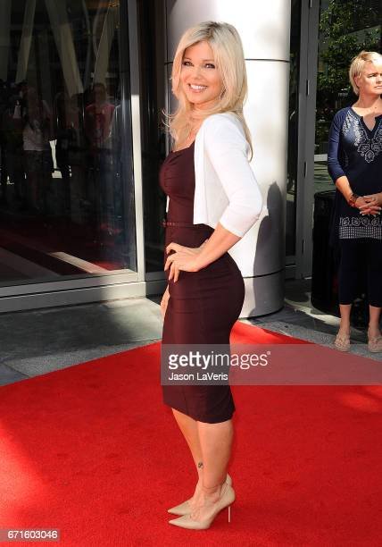 Actress Donna D'Errico attends the 'Baywatch' SlowMo Marathon at Microsoft Square on April 22 2017 in Los Angeles California