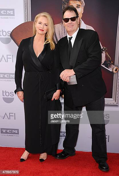 Actress Donna Dixon and actor Dan Aykroyd attend the 43rd AFI Life Achievement Award gala at Dolby Theatre on June 4 2015 in Hollywood California