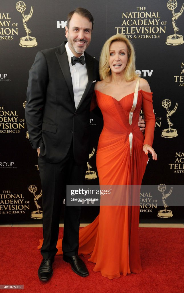 Actress <a gi-track='captionPersonalityLinkClicked' href=/galleries/search?phrase=Donna+Mills&family=editorial&specificpeople=217252 ng-click='$event.stopPropagation()'>Donna Mills</a> arrives at the 41st Annual Daytime Emmy Awards at The Beverly Hilton Hotel on June 22, 2014 in Beverly Hills, California.