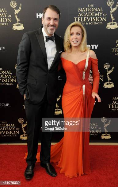 Actress Donna Mills arrives at the 41st Annual Daytime Emmy Awards at The Beverly Hilton Hotel on June 22 2014 in Beverly Hills California