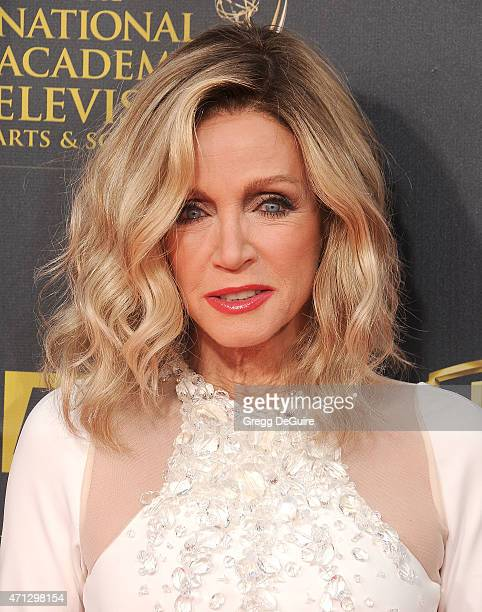 Actress Donna Mills arrives at the 42nd Annual Daytime Emmy Awards at Warner Bros Studios on April 26 2015 in Burbank California