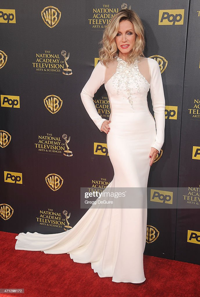 Actress <a gi-track='captionPersonalityLinkClicked' href=/galleries/search?phrase=Donna+Mills&family=editorial&specificpeople=217252 ng-click='$event.stopPropagation()'>Donna Mills</a> arrives at the 42nd Annual Daytime Emmy Awards at Warner Bros. Studios on April 26, 2015 in Burbank, California.