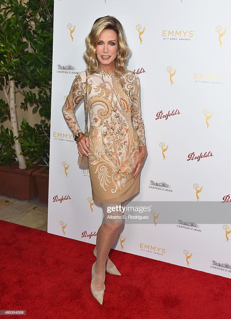 Actress Donna Mills attends a cocktail reception hosted by the Academy of Television Arts & Sciences celebrating the Daytime Peer Group at Montage Beverly Hills on August 26, 2015 in Beverly Hills, California.
