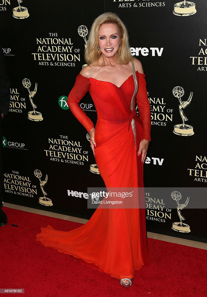 Actress Donna Mills Attends The 41st Annual Daytime Emmy Awards At The  Beverly Hilton Hotel On