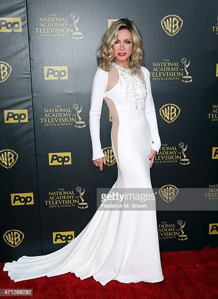Actress Donna Mills attends The 42nd Annual Daytime Emmy Awards at Warner Bros Studios on April 26 2015 in Burbank California