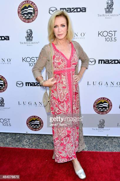 Actress Donna Mills attends the Festival of Arts Celebrity Benefit Concert and Pageant on August 23 2014 in Laguna Beach California