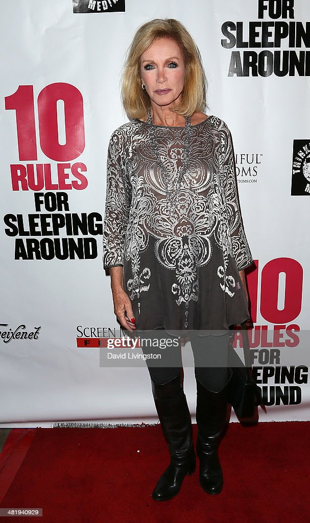 Actress <a gi-track='captionPersonalityLinkClicked' href=/galleries/search?phrase=Donna+Mills&family=editorial&specificpeople=217252 ng-click='$event.stopPropagation()'>Donna Mills</a> attends the premiere of Screen Media Films' '10 Rules for Sleeping Around' at the Egyptian Theatre on April 1, 2014 in Hollywood, California.