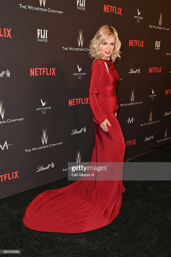 Actress Donna Mills attends The Weinstein Company and Netflix Golden Globe Party, presented with FIJI Water, Grey Goose Vodka, Lindt Chocolate, and Moroccanoil at The Beverly Hilton Hotel on January 8, 2017 in Beverly Hills, California.