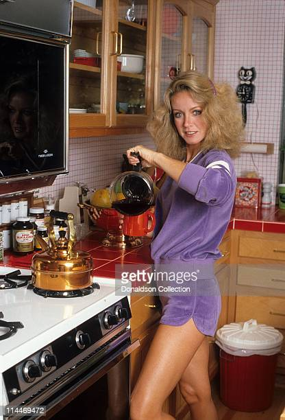 Actress Donna Mills on Cooking With the Stars in 1985 in Los Angeles California
