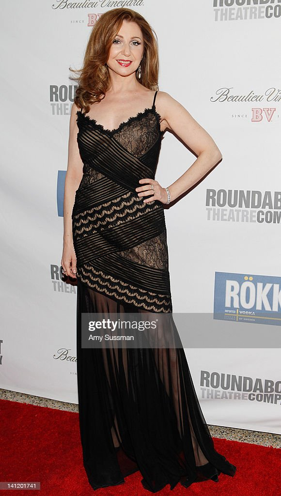 Actress <a gi-track='captionPersonalityLinkClicked' href=/galleries/search?phrase=Donna+Murphy&family=editorial&specificpeople=210723 ng-click='$event.stopPropagation()'>Donna Murphy</a> attends The Roundabout Theatre 2012 Spring Gala 'From Screen to Stage' dinner and auction at the Hammerstein Ballroom on March 12, 2012 in New York City.
