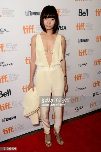 Actress Doona Bae attends the 'Cloud Atlas' premiere during the 2012 Toronto International Film Festival at the Princess of Wales Theatre on...