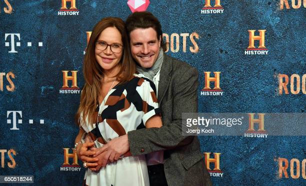 Actress Doreen Dietel and designer Tobias Guttenberg attend the HISTORY and Telekom preview screening of the new drama series 'Roots' on March 9 2017...