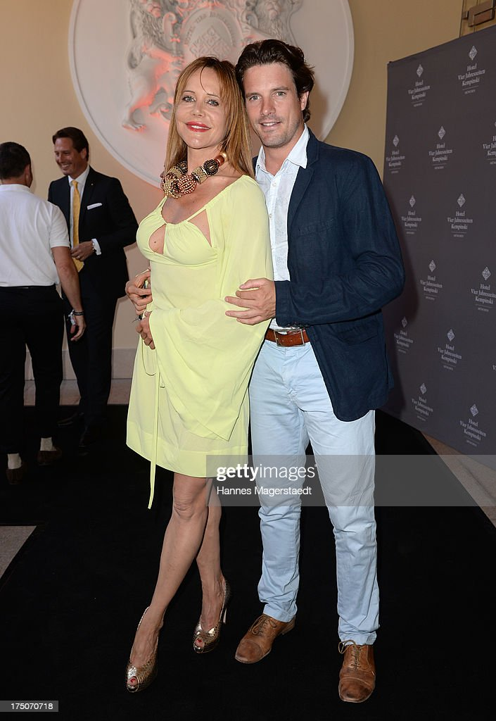Actress Doreen Dietel and her boyfriend Tobias Guttenberg attend the Sommerfest Eclat Dore at Hotel Vier Jahreszeiten on July 30, 2013 in Munich, Germany.