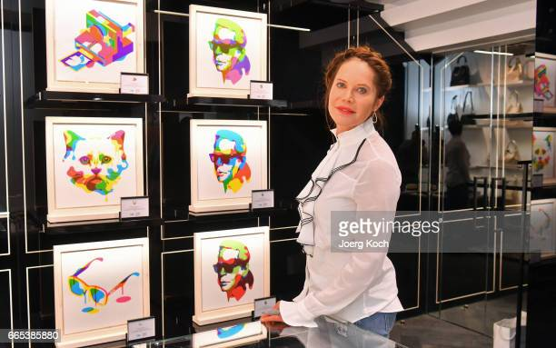 Actress Doreen Dietel attends the store event 'Karl Lagerfeld x Steven Wilson' on April 6 2017 in Munich Germany