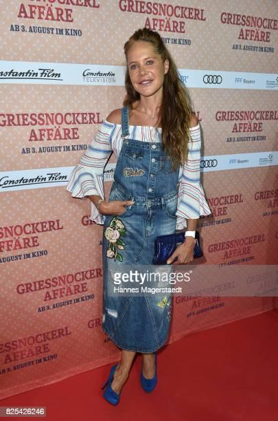 Actress Doreen Dietel during the 'Griessnockerlaffaire' premiere at Mathaeser Filmpalast on August 1 2017 in Munich Germany