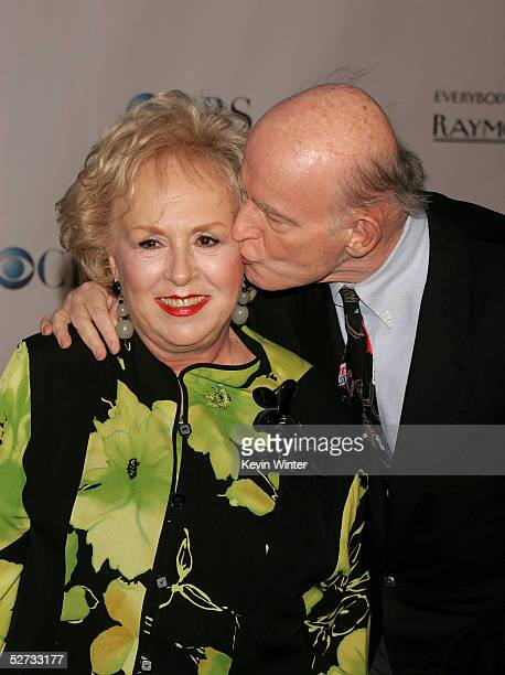 Actress Doris Roberts and actor Peter Boyle arrive at Everybody Loves Raymond Series Wrap Party at Hanger 8 on April 28 2005 in Santa Monica...