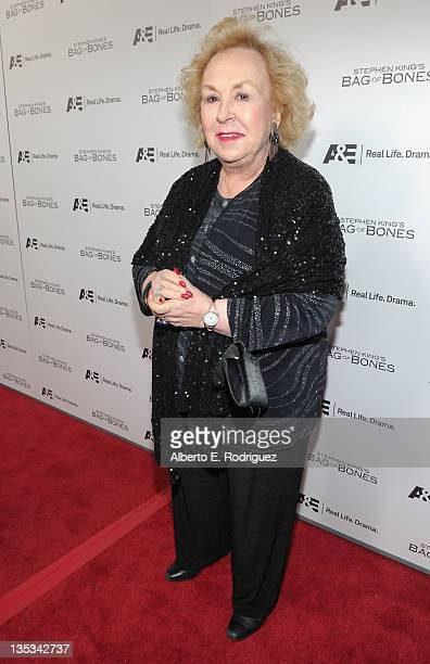 Actress Doris Roberts attends AE's premiere party event for Stephen King's 'Bag of Bones' at Fig Olive Melrose Place on December 8 2011 in West...