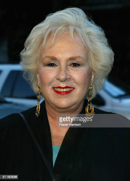 Actress Doris Roberts poses as she arrives at the V Life's Emmy Nominee Photo Portfolio Party held at the W Hotel on August 16 2004 in Westwood...